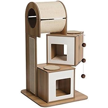 Vesper Cat Furniture, Walnut, V-Tower