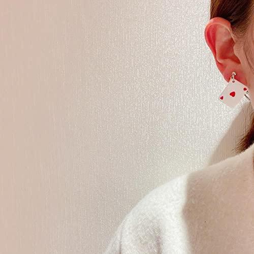 VIQNJ Versión Coreana de la Personalidad Divertida Pendientes de Resina de Alimentos pequeños Bollos acrílicos Frescos bocadillos Gancho para la Oreja-Bollos Cortados con Cuchillo