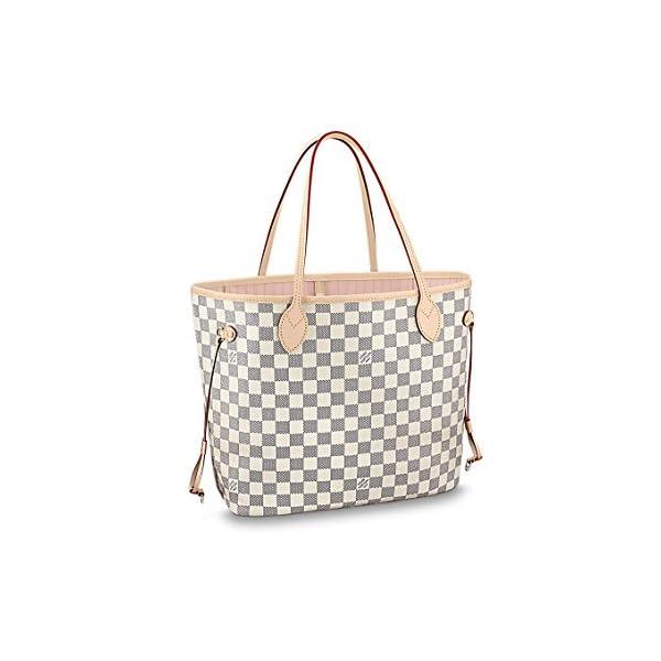 Fashion Shopping Louis Vuitton Damier Azur Canvas Neverfull MM N41605 Rose Ballerine