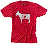 Official Goat Gear - Goat 12 - Tampa Bay Brady T-Shirt (Large) Red