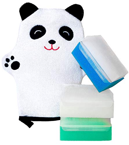 Baby Bath Sponges and Soft Scrub Bathing Loofah (4-pack)