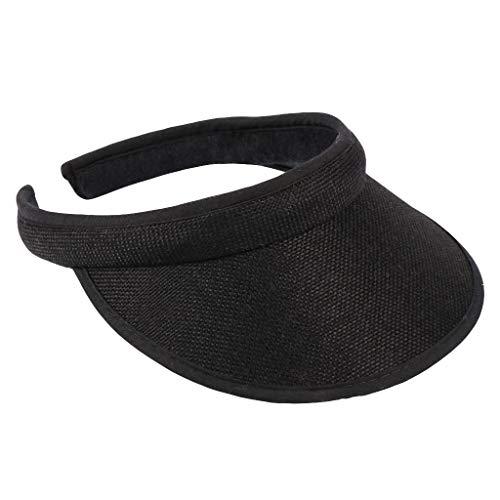 Gorra de Beisbol,Sombrero Ajustable Snapback Visera De Sol Sombreros Mujeres Protección UV Grande del Verano del Borde Casquillo De La Playa Vacías Top Sombrero De Paja