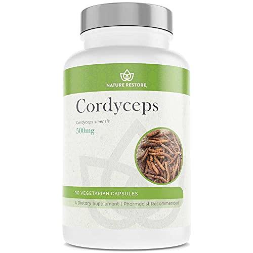 Cordyceps Sinensis Mushroom Extract Supplement, Pure CS-4 Cordyceps, 10 Percent Cordycepic Acid, 90 Capsules, Manufactured in USA, Non-GMO, Gluten Free