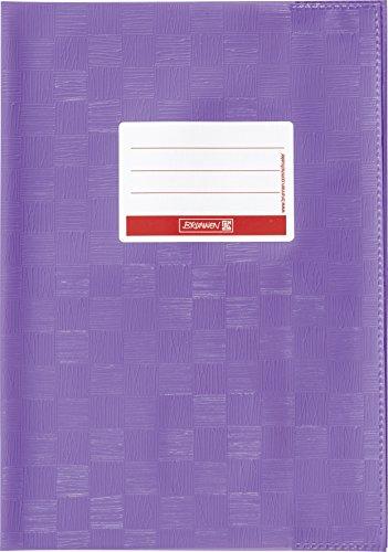 Brunnen 104052460 Hefthülle / Heftumschlag (A4, Folie, mit Namensschild) violett