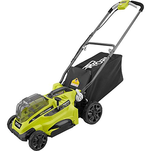 RYOBI P1100A 16 in. ONE+ 18-Volt Lithium-Ion Cordless Battery Walk Behind Push Lawn Mower (Tool Only)