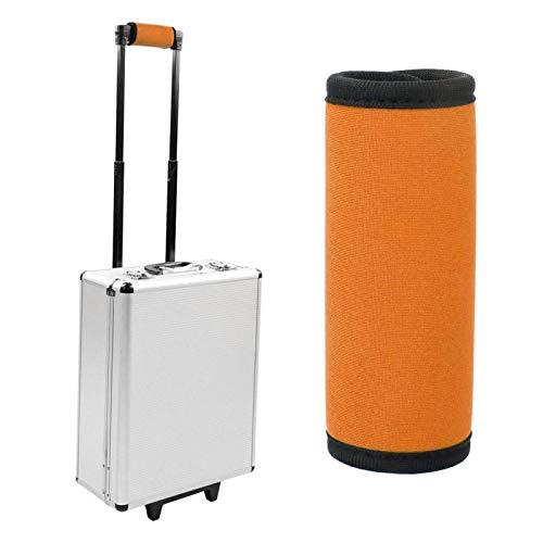 Cubierta de manija de equipaje de neopreno portátil Etiquetas de viaje para maleta Rectángulo suave Neopreno para cochecito Silla de ruedas Bicicleta para(Fluorescent orange)