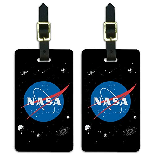 NASA Gepäckanhänger mit Meatball-Logo, 2 Stück
