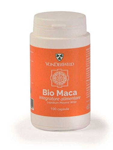 Vonderweid - Maca Peruviana Capsule | Polvere di Maca delle Ande Peruviane | Integratore Multivitaminico e Multiminerale con Maca in Polvere | Certificato Biologico, Vegan Food | 100 Capsule