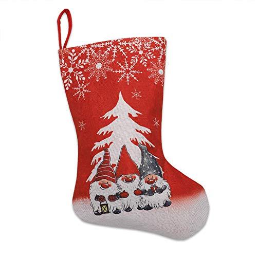 dingtian Navidad Medias Navidad Decoración Navidad Calcetines Adornos Colgante Pequeñas Botas Decoración Fiesta Navidad Santa Claus Decoración Regalo Rojo