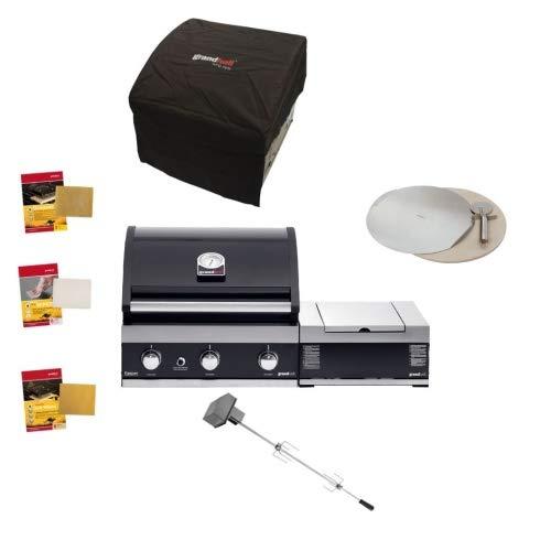 Grandhall Gasgrillpaket Premium G3 Einbau Grill mit Sear Burner Set Gas Garten Gartenkamin