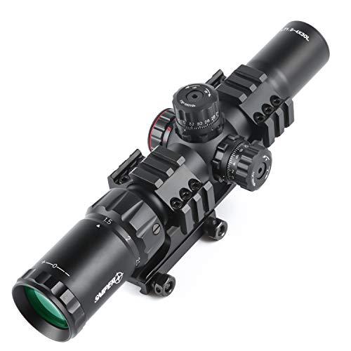 Sniper LT1.5-4x30 Scope Tri Illuminated Chevron Reticle Scope Riflescope for .223/5.56 Rifles