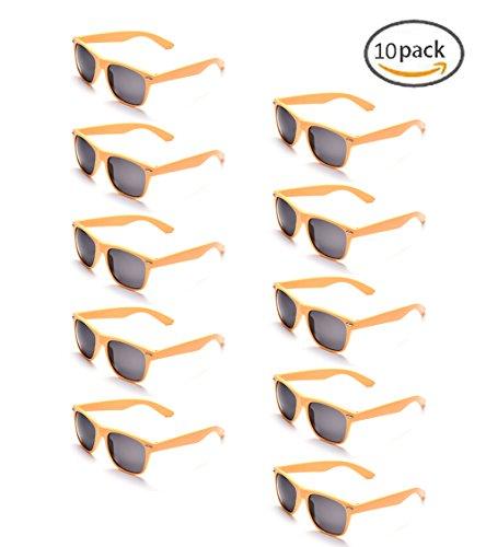 ONNEA 10 Piezas Gafas de Sol Fiesta Colores Paquete Años 80 (Leopardo 10-Paquete)