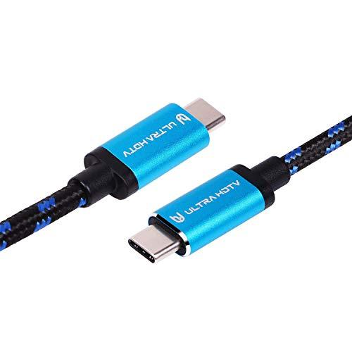 Ultra HDTV USB 3.1 (Typ-C GEN2) Ladekabel 1 Meter - Datenkabel, mit E-Mark Chip und 60W (20V 3A) PD Ladeleistung, 10Gbps Datenübertragung, 4K bei 60Hz
