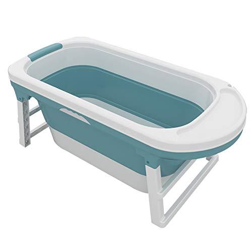 Bañera Adulta Plegable, bañera Plegable, baño de Gran Capacidad de baño Almacenamiento portátil Bañera de Mascotas Cubo de baño Cesta de Silicona,Azul