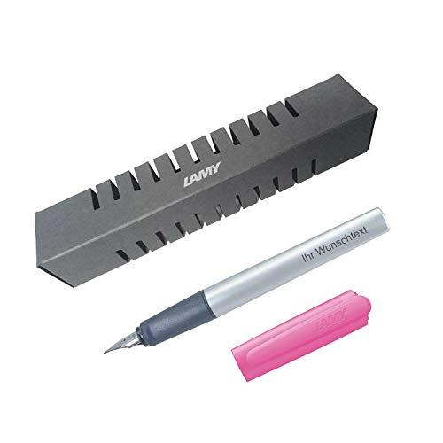 Lamy Füllfederhalter nexx Modell 82, Farbe pink, Feder A, inkl. Laser-Gravur
