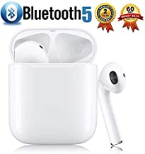 Bluetooth Headphones, Bluetooth 5.0 Wireless Earbuds, 3D Stereo 24H Playtime Wireless Sports Headset, IPX5 Waterproof, Pop-ups Auto Pairing for Apple Airpods Android/iPhone Samsung (2019NewEarbuds)