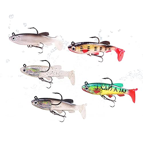 YMDZ 5 Pcs Señuelos de Pesca Spinning Jigs Pesca Conjuntos