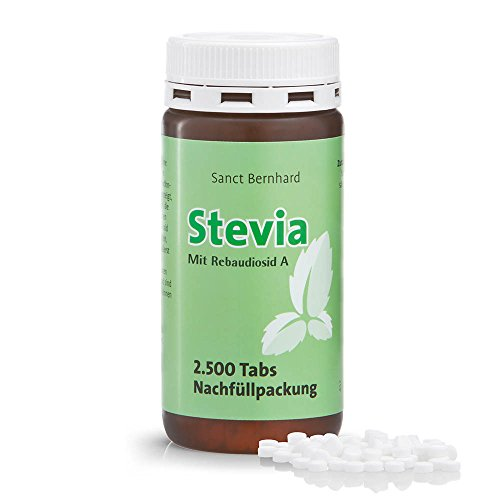 Sanct Bernhard Stevia-Tabs - Nachfüllpackung mit 2.500 Tabs