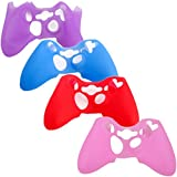 xbox 360 master mod - HDE Controller Skins for Xbox 360 Controller 4 Pack Combo Silicone Rubber Protective Grip Case Cover for Microsoft Xbox 360 Wireless Gamepads (Purple, Aqua Blue, Red, Pink)