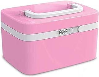 AINIYF Household Medicine Box Plastic First Aid Kit Medicine Storage Box Portable Medical Box with Password Lock Medicine Box (Color : Pink)