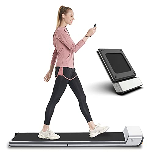 WalkingPad Folding Treadmill, Ultra Slim Foldable Treadmill Smart Fold Walking Pad Portable Safety Non Holder Gym and Running Device P1 Grey 0.5-3.72MPH