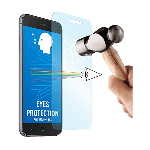 Muvit MUTPG0060 - Protector de pantalla para ZTE Blade V6 (vidrio templado, 0.33 mm, anti Blue-ray)