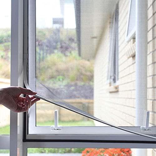 Zanzariera magnetica per finestra fai da te, lavabile in rete a rete, facile da installare, per tenere lontani gli insetti, le mosche, le zanzare (120 x 120 cm)