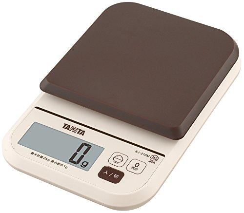 タニタ はかり スケール 料理 カロリー 1kg 0.5g ブラウン KJ-111M BR ごはんのカロリーがはかれる