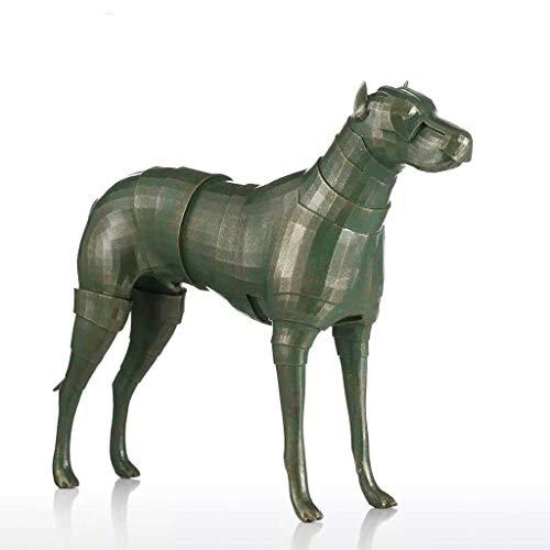 ECSWP KWONFPCM Armadura Perro Escultura de Fibra de Vidrio D