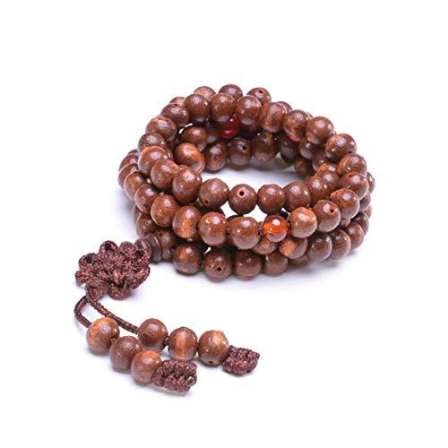 Natürliche Bodhi Samen 108 Perlen Armband Yoga Halskette Buddhistischer Rosenkranz Chinesische Knoten Wickel Armbänder für Männer Frauen Geschenk