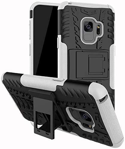 Capa Capinha Anti Impacto Para Samsung Galaxy S9 com Tela de 5.8polegadas Case Armadura Hybrid Reforçada Com Desenho De Pneu - Danet (Preto com branco)