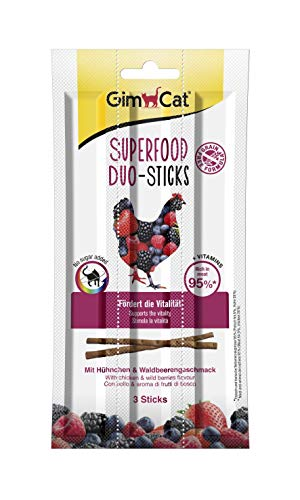 GimCat Superfood Duo-Sticks - Poulet & Fruits de la forêt