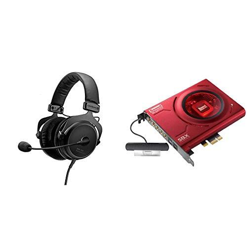 beyerdynamic MMX 300 Premium Over-Ear Gaming-Headset (2nd Generation) mit Mikrofon. Geeignet für PS4, XBOX One, PC, Notebook & Creative Sound Blaster Z Interne Soundkarte