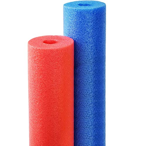 Floating Pool Noodles Foam Tube, Thick Noodles for Floating in The Swimming Pool, Assorted Colors, 52 Inches Long (2-Pack)