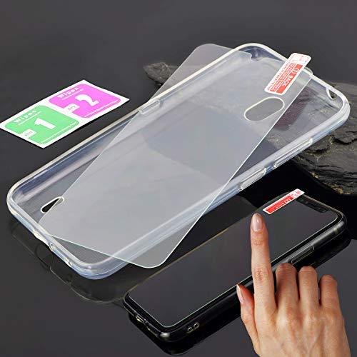Favory-Shop TPU Silikon Tasche kompatibel mit Nokia 2.2 (Dual-SIM) 2019 Hülle Hülle Schutzhülle Handytasche Cover in transparent inkl. 9H Panzer Folie Glas