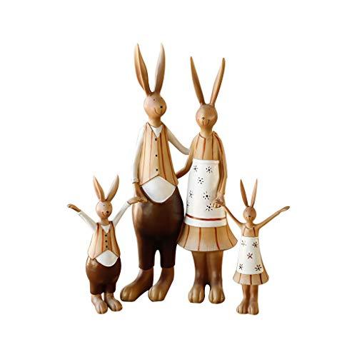 DECORACION FHW Move to New Home Regalo Boda Regalo de Boda American Rabbit Familia de Cuatro Sala de Estar Creativa Vinoteca Adornos Conejo simboliza el Significado de la longevidad
