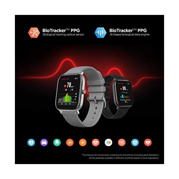 Amazfit GTS Fitness Smartwatch with Heart Rate Monitor