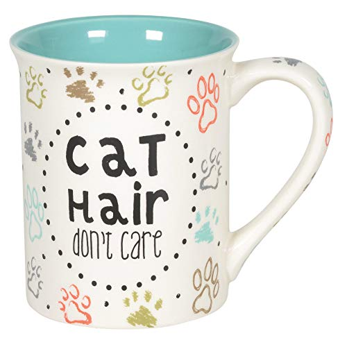 Enesco 6005722 Our Name is Mud Cat Hair Don't Care Pets Coffee Mug, 16...