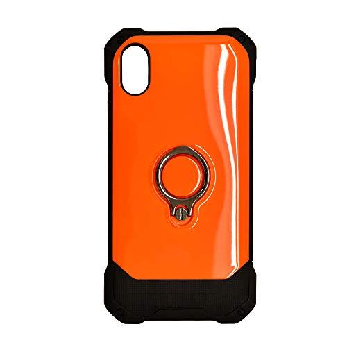 ラスタバナナ iPhone XR ケース/カバー ハイブリッド TPU+PC リングスタンド付き ネ…