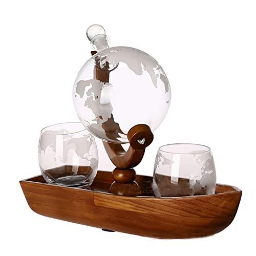 EnweMahi Decanter di Cristallo Liquore, Whisky Decanter Set Regalo, Vino Aeratore Botti di Invecchiamento Scotch Bourbon per Gli Amanti