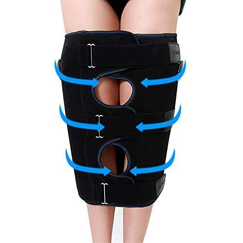 ZXJ Beinkorrekturbänder, einstellbares Beinkorrekturband, O-Typ-Beine-Korrektor-Gürtel, stärker Bandage-Kit-Korrekturgurt,Schwarz,L