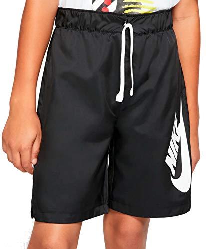 NIKE Sportswear Pantalones Cortos Deportivos,  Niños,  Negro (Black/Black/White),  XL