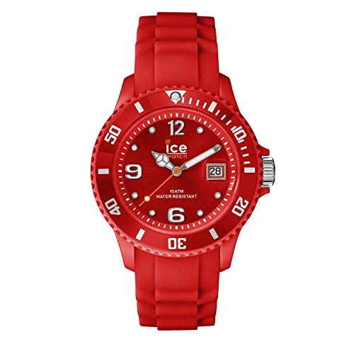 ICE-WATCH - ICE forever Red - Rote Damenuhr mit Silikonarmband - 000129 (Small)