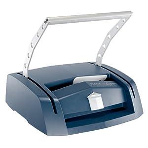 Leitz 73880000 - Máquina de encuadernar A4, Plateado/Azul, impressBIND 280