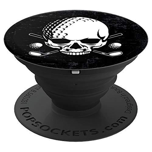 Golfball Skull Design Totenkopf Geschenk - PopSockets Ausziehbarer Sockel und Griff für Smartphones und Tablets