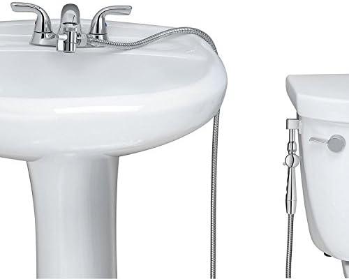 "RinseWorks - Aquaus 360 Hand Held Bidet for Faucet - Warm Water Bidet - 2 Certified BackFlows - NSF 61 Compliant - Dual Pressure Controls – 3"" to 11"" Spray Reach - 3 Year Warranty – (Polymer Sprayer)"