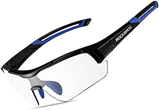 RockBros Unisex Photochromic Cycling Sunglasses UV Protection for Outdoor Sport Black Blue