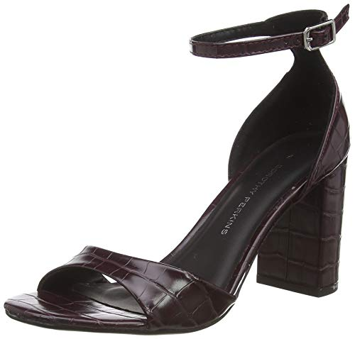 Dorothy Perkins Women's Platform Sandals, Red Burgundy 716, 8