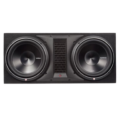 """Rockford Fosgate P3-2X12 Punch Dual P3 12"""" Loaded Enclosure Ported Subwoofer"""