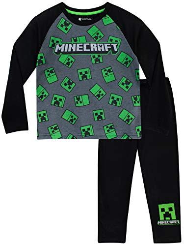 Minecraft Jungen Creeper Schlafanzug Mehrfarbig 146